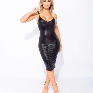 Snake print dress 💕
